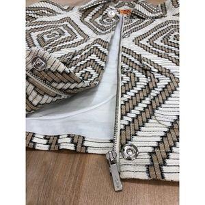 Tory Burch Melchor Style Linen Blend Blazer
